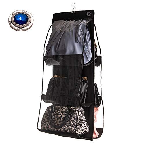 Handtaschen Organizer Hängend I Universal Organizer Tasche mit 6 Fächer Taschenhalter für Tisch I Handtaschen Aufbewahrung MA`DIWEL
