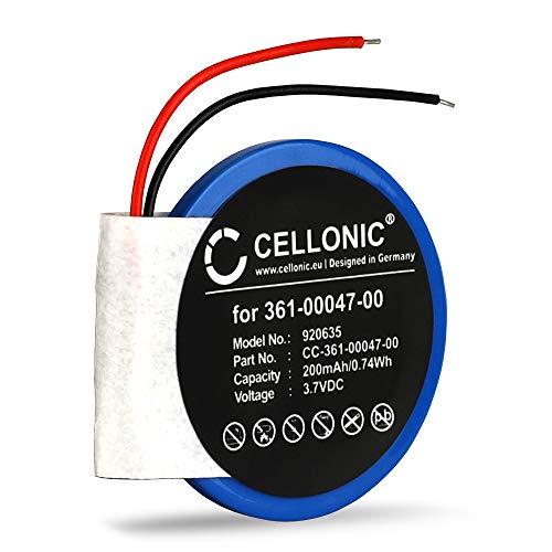 CELLONIC Batería de Repuesto 361-00047-00 361-00064-00 Compatible con smartwatch Garmin Forerunner 210, 110, S1 / Approach S4, S3, S1, 200mAh Accu Battery Pack