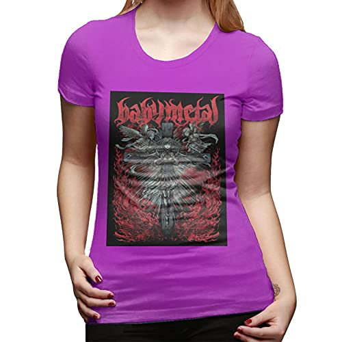 Babymetal T Shirt Fuchusia XL Women T-Shirt aus Baumwolle für Damen Kurzarm Womens Tshirt Rundhalsausschnitt