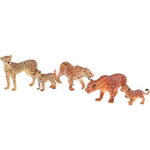 non-brand 5 Stück Gepard Figuren Spielfiguren Tierfiguren Kinder Spielzeug