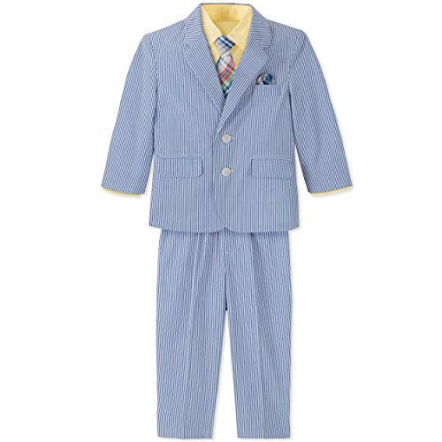 Nautica Baby Boys 4-Piece Suit Set with Dress Shirt, Jacket, Pants, and Tie, Ultra Blue, 18 Months