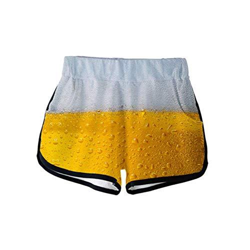 Bier Carnaval 3D Color Printing Casual Wild Women Shorts joggingbroek 3D Printing Casual Ademende Shorts Vrouwen