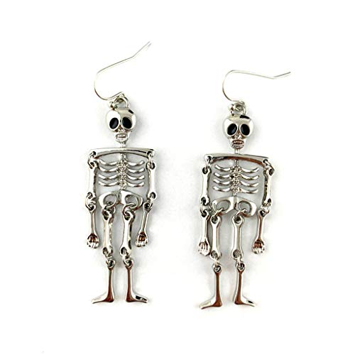 MIKI-Z 1 Pair Halloween Vintage Skeleton Skull Dangle Earrings Women Cosplay Jewelry