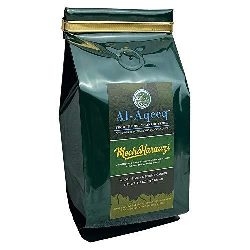 Al-Aqeeq: Whole Bean Yemen Coffee| Authentic Yemeni Coffee| Freshly Roasted Coffee| Mocha-Haraazi Coffee Beans| Coffee From Around The World| Arabica Coffee Beans| Specialty Coffee| Medium-Roasted