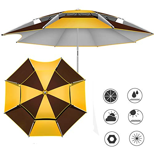 ZJM-umbrella Parasols Parasol Se Plage Patio Pêche, Parapluie D'ombrage de Plantes, Parapluie Robuste avec Inclinaison Portable et Ancrage de Sable Poteau Télescopique (Size : 220cm)