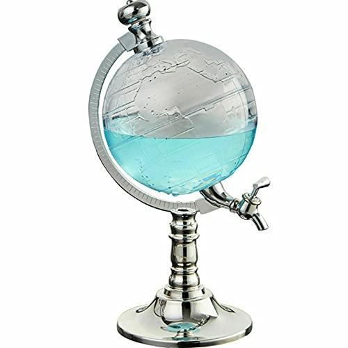 Juego de decantador de whisky de plástico de 1,5 l, con forma de globo terráqueo, dispensador de vino, dispensador de cristal antiguo con grifo, accesorio de cocina para bar, KTV o uso doméstico