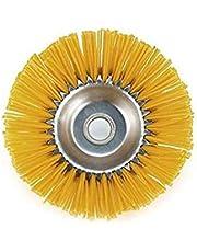 Pakket voor tuingereedschap, nylon, onkruidborstel, borstelkop voor grasmaaiers, binnengat, 25,4 mm, geel, 200 mm, 1 stuk