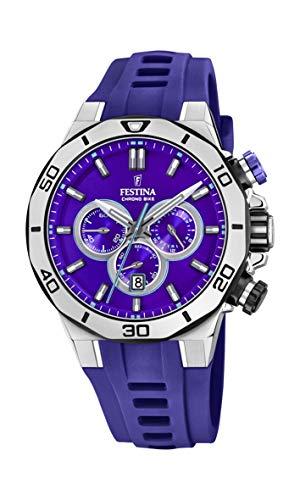 Festina Unisex volwassene chronograaf kwarts horloge met siliconen armband F20449/D
