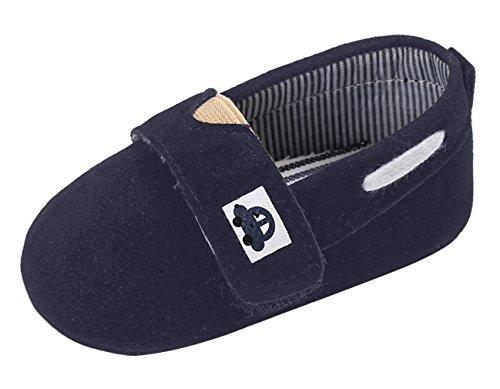Y-BOA Chaussure Bateau Mocassin Bébé Fille Garçon Sneaker Flâneur Confortable Premiers Pas Marine Semelle 13cm