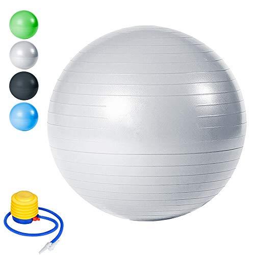 wolketon Gymnastikball Yogaball Pilates-Ball Robuster bis 300kg für Core Strength Beckenübungen Sitzball Balance Ball Reha Therapie