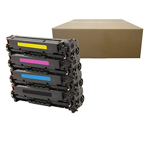 Inktoneram Compatible Toner Cartridge Replacement for HP 305A CE410X CE411A-13A LaserJet Pro 300 color MFP M375nw Pro 400 color M451dw M475dn M475dw M451nw M451dn ([Black,Cyan,Magenta,Yellow], 4-Pack)