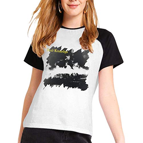 Dead Kennedys Gril's Short Sleeve Raglan Baseball T-Shirts Cotton Casual Print Tee