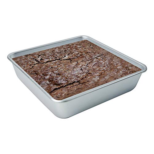 Loaf Pan 8 x 8 Inch Nonstick Anodized Aluminum Banana Bread Pan, Quick Release Bread Mold for Baking Meatloaf