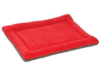 YiJee Chaud Animaux Lit Coussin Doux Confortable Tapis Matelas pour Chien et Chat Rouge XL