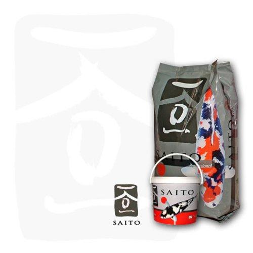 Saito Professional Koifutter, Premium Koifutter der Spitzenklasse für optimales Wachstum, leuchtende Farben und eine tolle Körperform bei Koi aller Varietäten, 2kg Beutel, 5mm