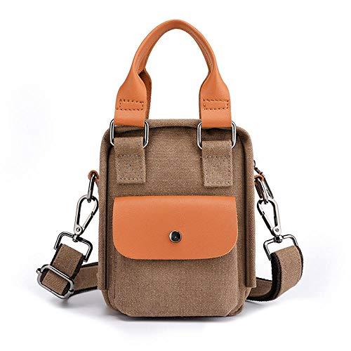 Jiushice Monedero de lona para teléfono móvil, bolso de mensajero para señoras de un solo hombro, portátil, pequeña mochila