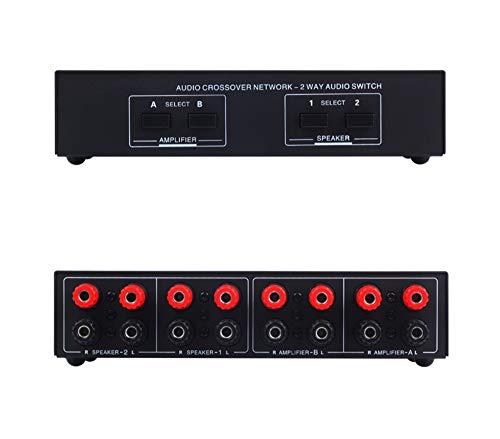 Commutatore di diffusori passivi 2 in 2 out, 2 Amplificatore di potenza Commutatore audio Interruttore di diffusore Interruttore splitter Somparator