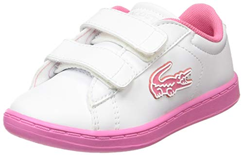 Lacoste Unisex-Kinder Carnaby Evo 319 1 Sui Sneaker, Weiß (White/Pink B53), 26 EU