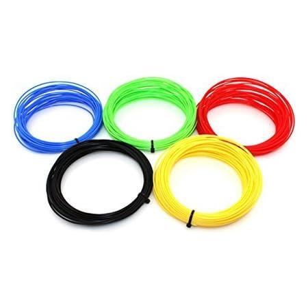 URANUS™ 3D Pen Filament Refills 1.75 mm PLA Pack… (5 Mtr, 5 Color)
