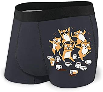 Yuanmeiju Mens Boxer Shorts Fitted Bragas Funny Cats Party Trunks Quick Dry Ropa Interior