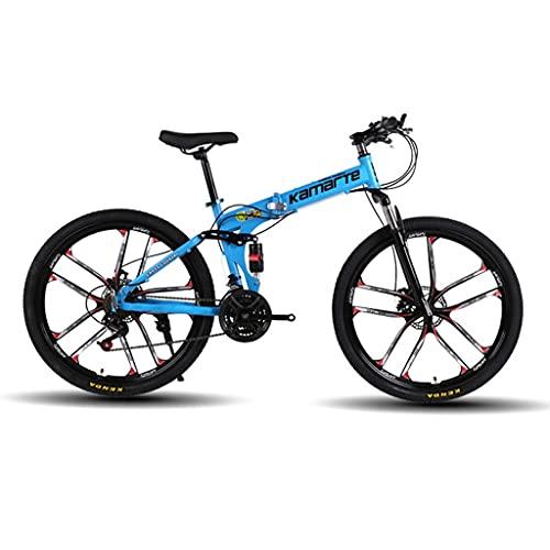 Bicicleta de montaña Mountainbike Bicicleta Montaña de la bici adulta del doblez de 26 pulgadas 21/24/27 bicicletas de doble suspensión del freno de disco doble Estudiante amortiguadora de golpes -spe