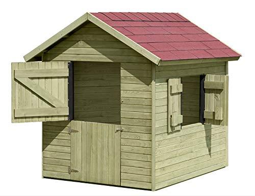 Spielhaus Marie 1,5 x 1,2 m x 1,60 Gartenhaus aus Holz TÜV