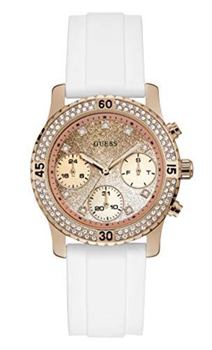 Guess Reloj Analógico para Mujer de Cuarzo con Correa en Silicona W1098L5