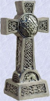 medieval celtic cross Sculpture gothic home yard statue