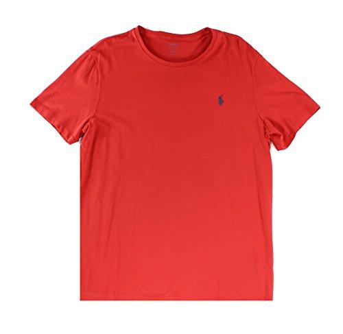 Ralph Lauren Poloshirt für Herren, mit Rundhalsausschnitt, Pony-Logo, personalisierbar - Rot - Klein