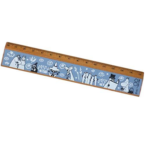 ムーミン[ものさし]15cm スリム 木製 定規/20AW B 北欧