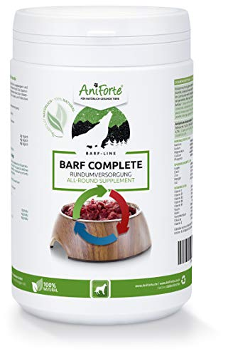 AniForte BARF Complete 500g for Dogs - 100% Natural Barf Supplement with Minerals, Vitamins and Herbs - Premium Quality, Rich in Calcium & Ideal as Daily All-Round Care for Raw Food Diets