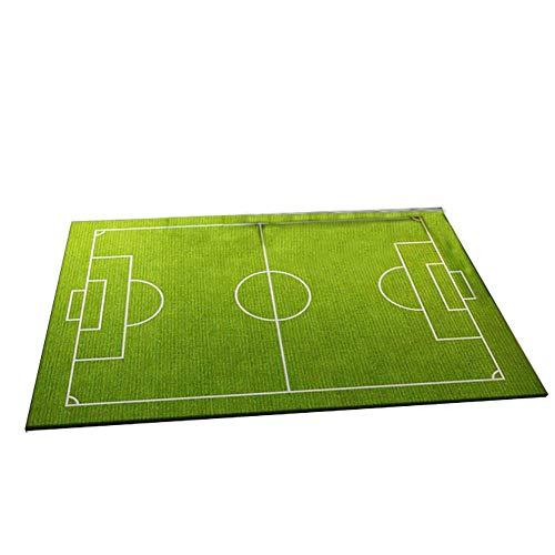 ZXL Kinderplezier tapijt, groen voetbalveld tapijt, cartoon kinderkamer kruipdeken (grootte: 140 \u0026 times; 200cm)
