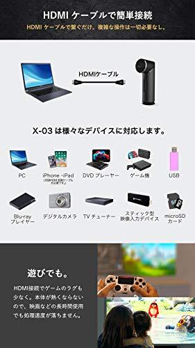 小型プロジェクター【FunLogy】X-03(1000ルーメン)日本発ブランド日本語説明書安心サポート【メーカー1年保証】自動台形補正HDMI/wifi/USB/SD対応プロジェクター