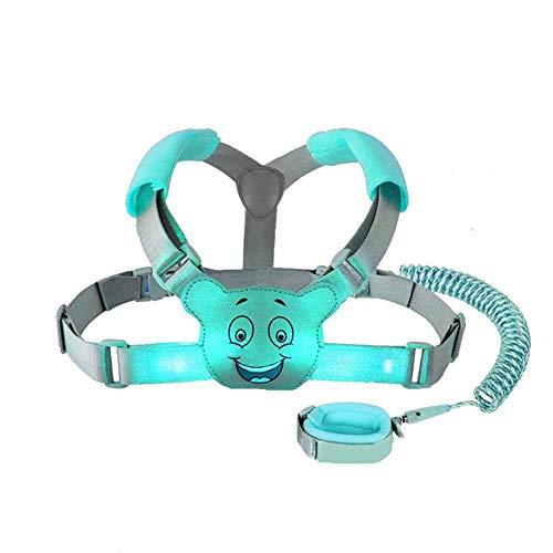 Eidyer Baby Zügel Wanderrucksack Geschirr für Kleinkinder, Kinder, Anti-Verlust-Sicherheits-Handgelenk-Gürtel, 3-in-1, 1,5 m flexibel, verstellbarer, 360°-Rotation