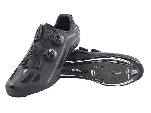 Raiko Sportswear HP1 Rennradschuhe Carbonsohle SPD-SL/Look Klickpedale Drehverschluss schwarz Größe 46