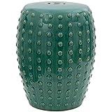 Oriental Furniture 18' Blue-Green Porcelain Garden...