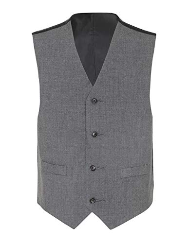Chaps Boys' Big Formal Suit Vest, Charcoal Heather, Medium (10/12)