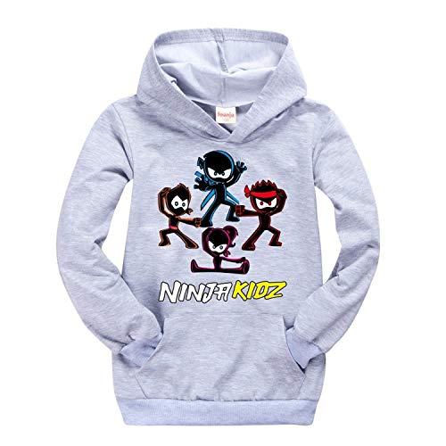 Moschin Ropa para niños y niñas adolescentes camiseta Amazon Ninja Kidz suéter con capucha para niños bebé rosa camisa trajes para niños