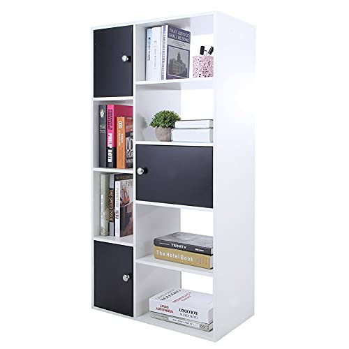 Sturdy Storage Rack, Steel Organizer Wire Bearing Capacity Size Cubes Design Storage Rack with Particleboard