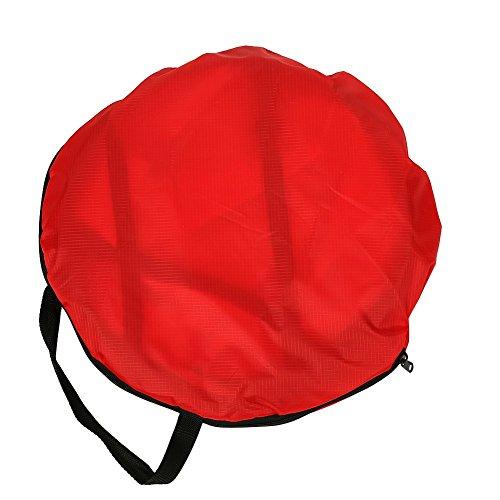 Zholuzl Seguro Vela 108cm Plegable Ventana Clara Canoa Viento Paddle Vela con Bolsa de Almacenamiento Fácil instalación (Color : Red)