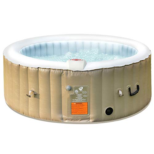 RASIKA SHOP 4 Person Portable Outdoor Blow up Inflatable Air Bubble Spa Hot Tub w/Cover Bag