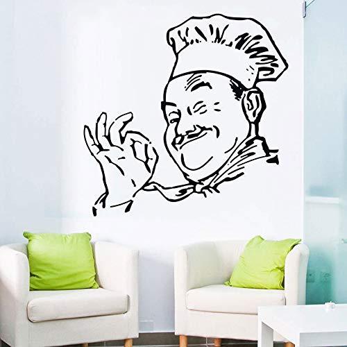 Tianpengyuanshuai muurstickers, modieus, voor keuken en baas als decoratie, vinyl, 68 x 68 cm