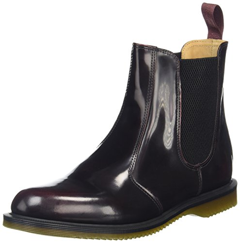 Dr. Martens Womens Flora Leather Chelsea Boot, Cherry Red Arcadia, 5 UK/7 M US