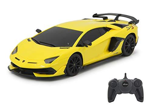 Jamara 405187 Lamborghini Aventador SVJ 1:24 Amarillo 40 MHz Licencia Oficial, hasta 1...