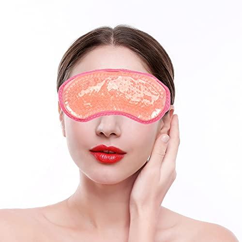 Impacco di Ghiaccio Riutilizzabile in Gel per Impacco Caldo Freddo, Piccola Maschera per gli Occhi con Cuscinetto di Raffreddamento Riscaldante...