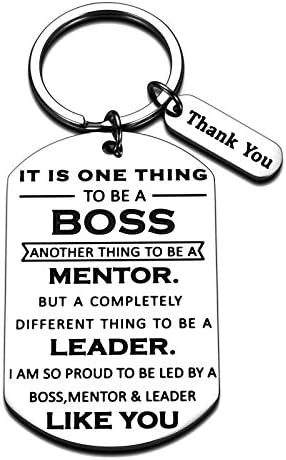 Boss Day Gifts for Women Men Office Keychain Thank You Boss Gift for Coworker Mentor Supervisor product image