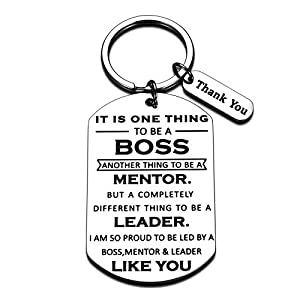"✿【BOSS APPRECIATION GIFTS】-- Engraved with "" It is one thing to be a boss. Another thing to be a mentor. But a complete different thing to be a leader. I am so proud of to be led by a boss, mentor & leader like you."" A great gift for a great boss, su..."