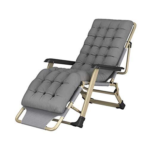 Sedie a gravità Zero Lounge Patio Sedie Outdoor Spiaggia Letto Pieghevole Letto Singolo Nap Divano per Ufficio Sedia per Anziani Portatile