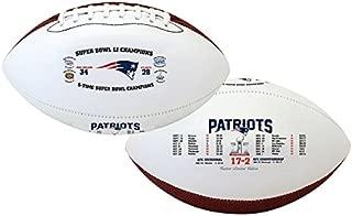 New England Patriots Souvenir Footballs Super Bowl LI Souvenir Footballs Patriots 5-Time Super Bowl Champions Souvenir Footballs