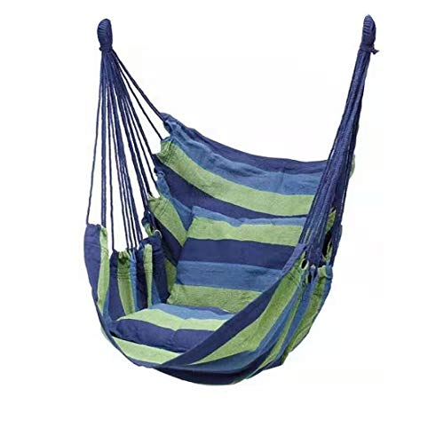 illumafye Hanging Hammock Chair,Hammock Swing Seat Cotton for Patio Portable Garden Swing Seat Tree Travel Camping Poly Cotton for Patio, Bedroom, Backyard, Indoor or Outdoor